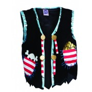 Pirate Red Stripe vest